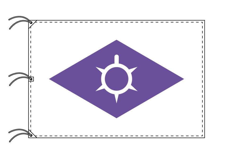 甲府市の市旗(山梨県・県庁所在地)(サイズ:140×210cm)テトロン製・日本製