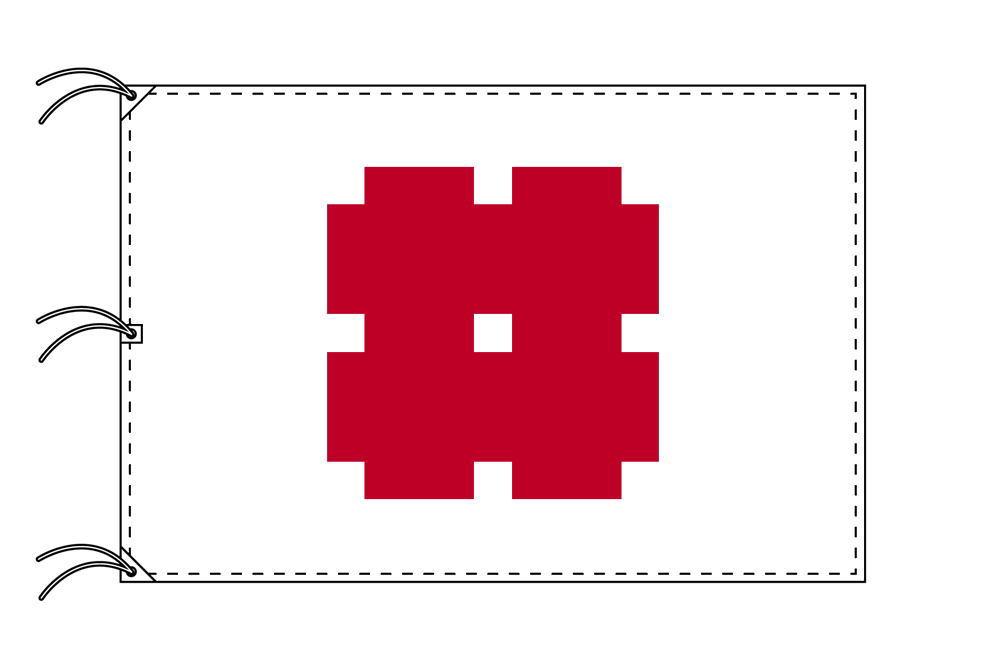 岐阜市の市旗(岐阜県・県庁所在地)(サイズ:140×210cm)テトロン製・日本製