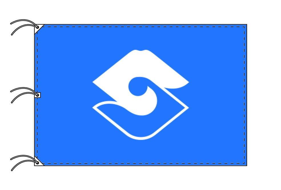 静岡市の市章(静岡県・県庁所在地)(サイズ:140×210cm)テトロン製・日本製