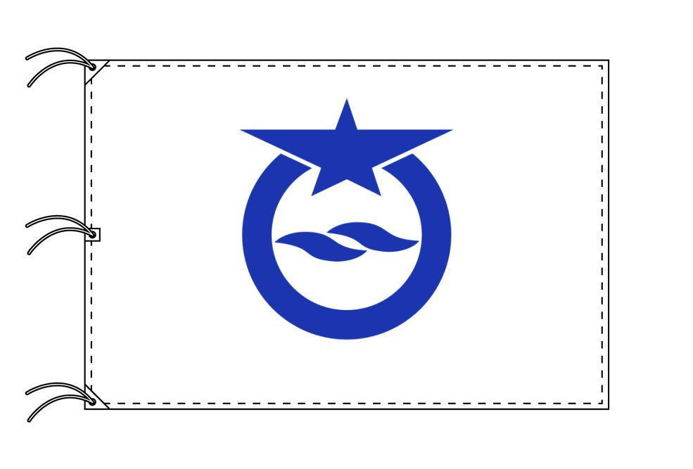 大津市の市旗(滋賀県・県庁所在地)(サイズ:140×210cm)テトロン製・日本製