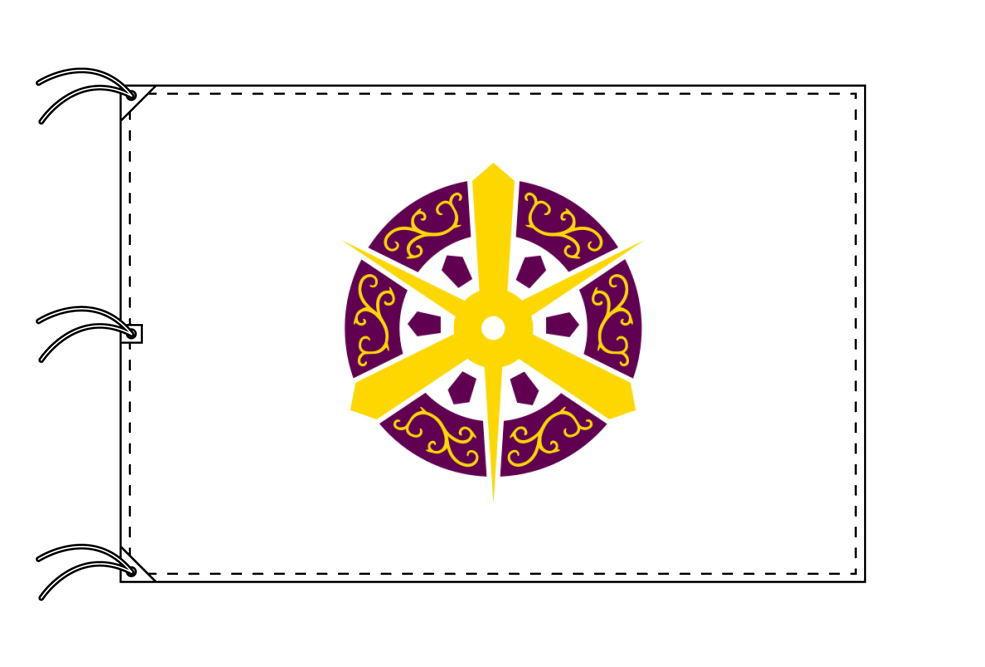 京都市の市旗(京都府・府庁所在地)(サイズ:140×210cm)テトロン製・日本製