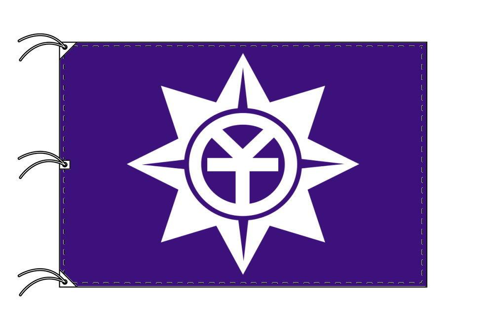 岡山市の市旗(岡山県・県庁所在地)(サイズ:140×210cm)テトロン製・日本製