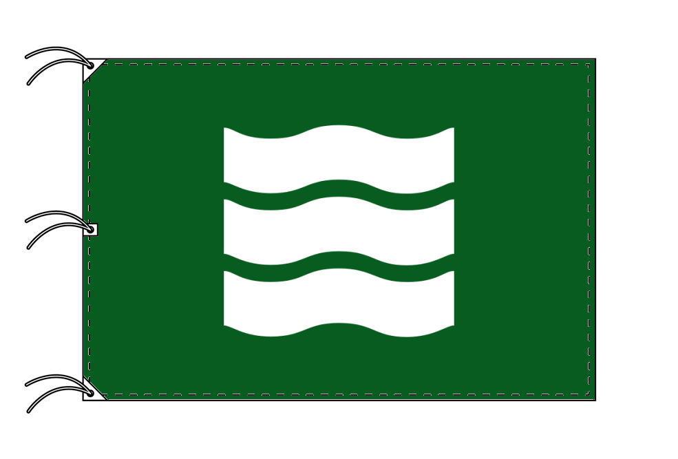 広島市の市旗(広島県・県庁所在地)(サイズ:140×210cm)テトロン製・日本製