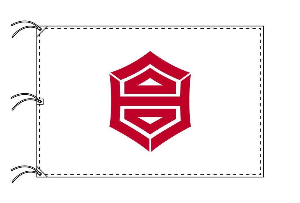 高知市の市旗(高知県・県庁所在地)(サイズ:140×210cm)テトロン製・日本製