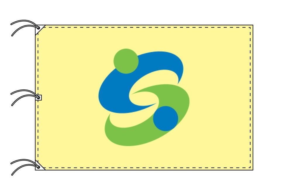 佐賀市の市旗(佐賀県・県庁所在地)(サイズ:140×210cm)テトロン製・日本製
