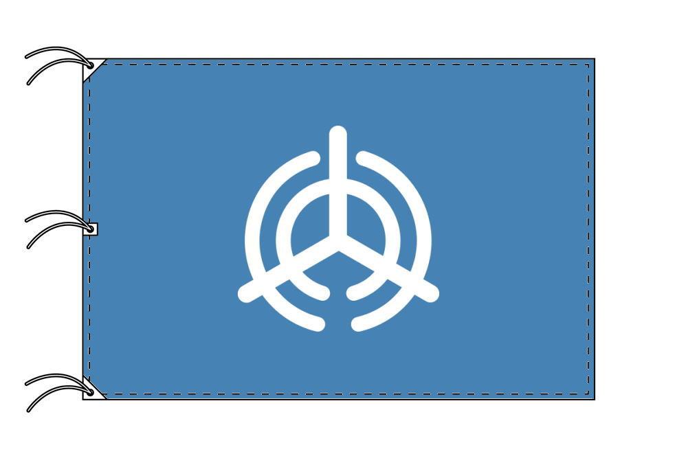 大分市の市旗(大分県・県庁所在地)(サイズ:140×210cm)テトロン製・日本製