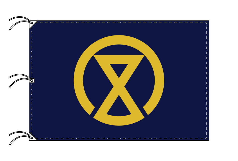宮崎市の市旗(宮崎県・県庁所在地)(サイズ:140×210cm)テトロン製・日本製