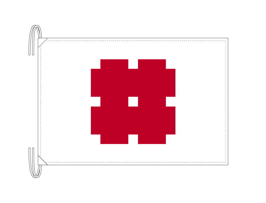 岐阜市の市旗(岐阜県・県庁所在地)(50×75cm)テトロン製・日本製
