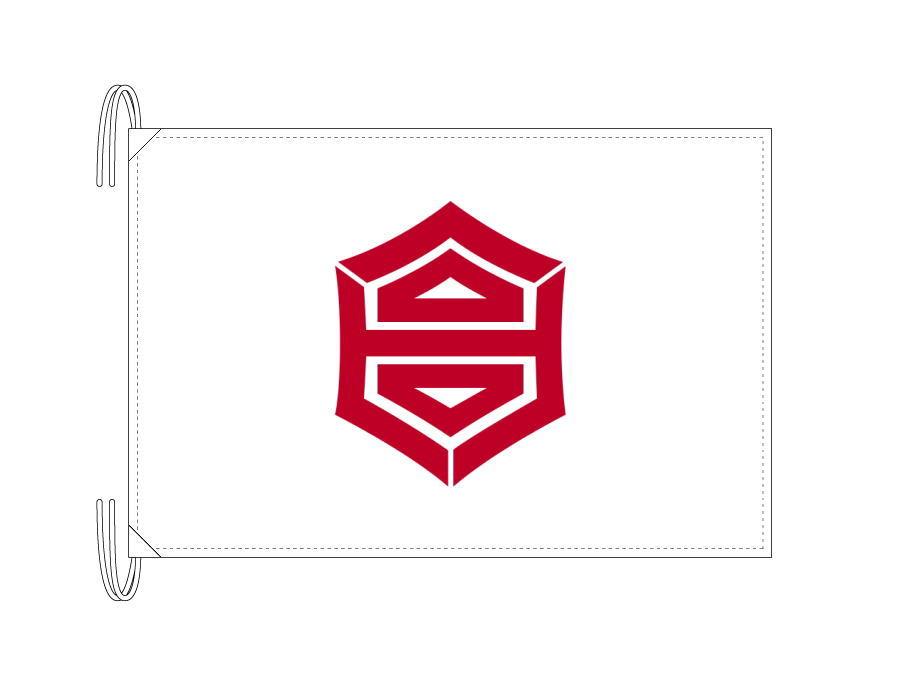 高知市の市旗(高知県・県庁所在地)(50×75cm)テトロン製・日本製