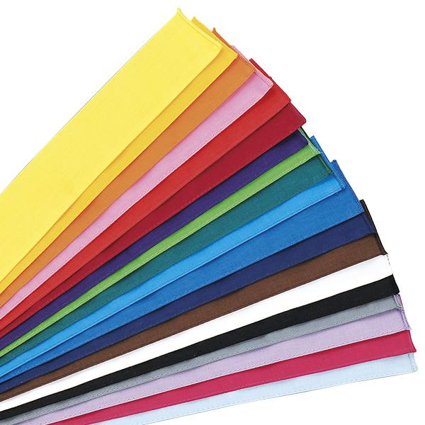 運動会やレクリエーションにお勧め 豊富なカラーバリエーション 全19色あります 返品送料無料 メーカー直売 カラーハチマキ はちまき 鉢巻き 木綿 1本単位 全19色 日本製 120×4cm