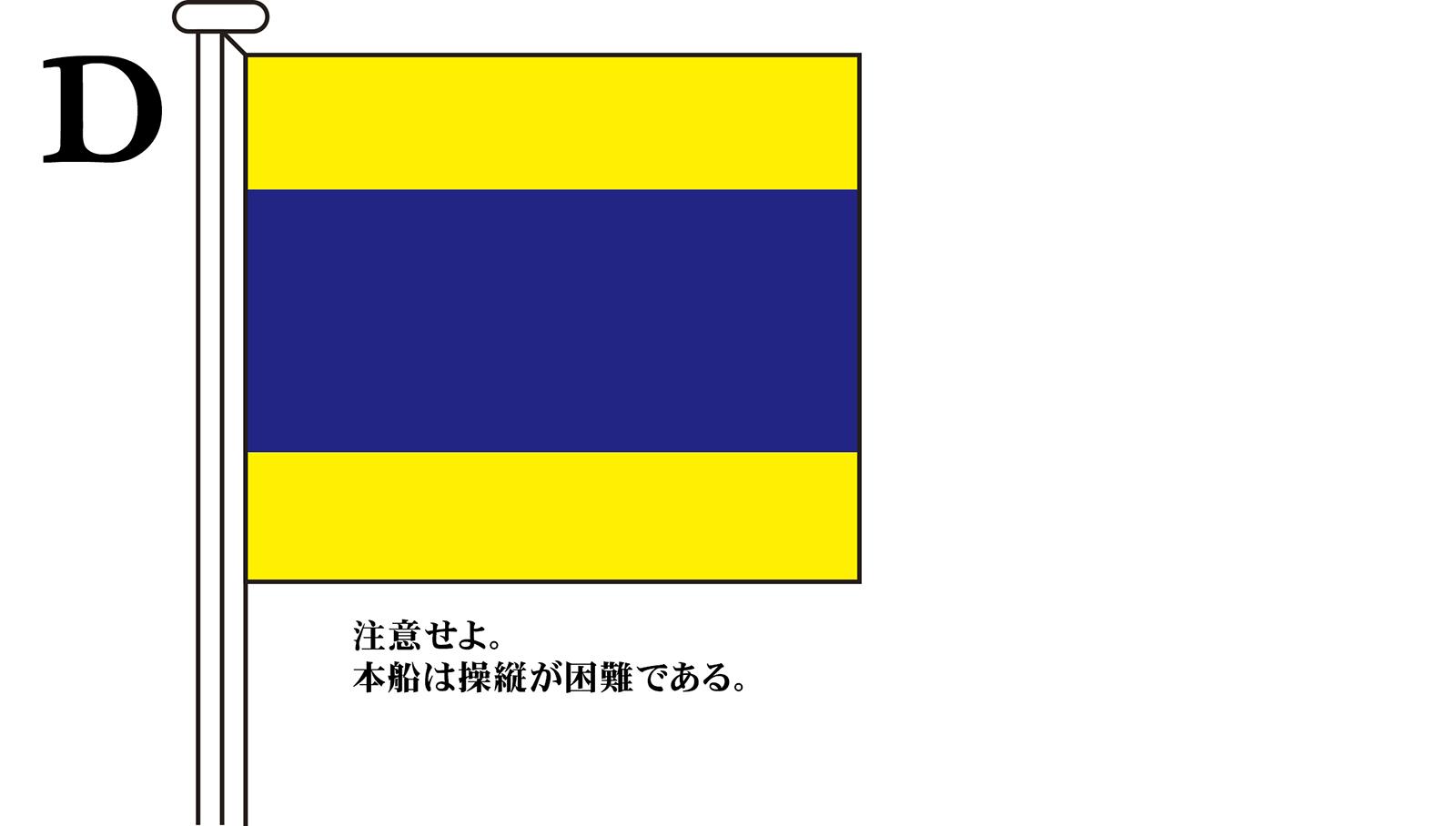 国際信号旗 文字旗 Alphabetical Flags【D】[3巾 中型:131×162cm・アクリル]