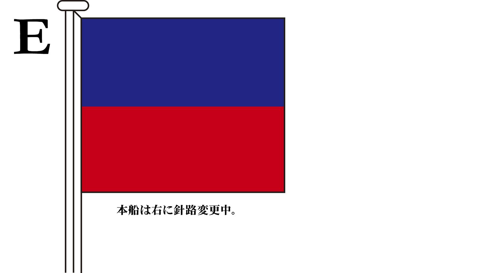 国際信号旗 文字旗 Alphabetical Flags【E】[3巾 中型:131×162cm・アクリル]