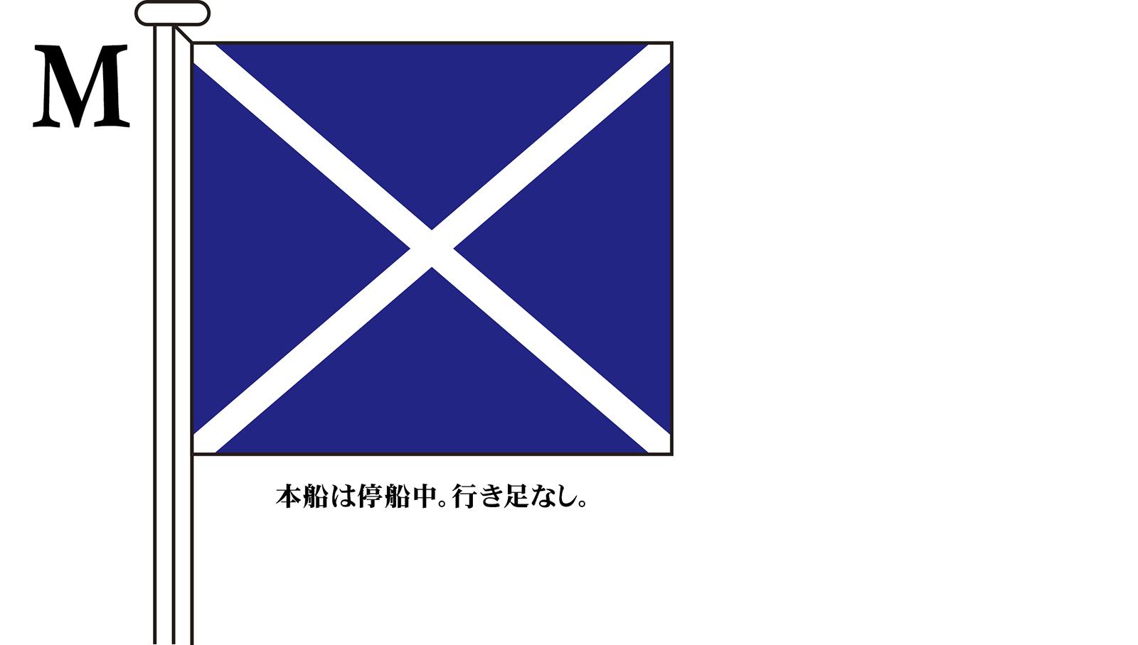 国際信号旗 文字旗 Alphabetical Flags【M】[2巾:90×120cm・アクリル]