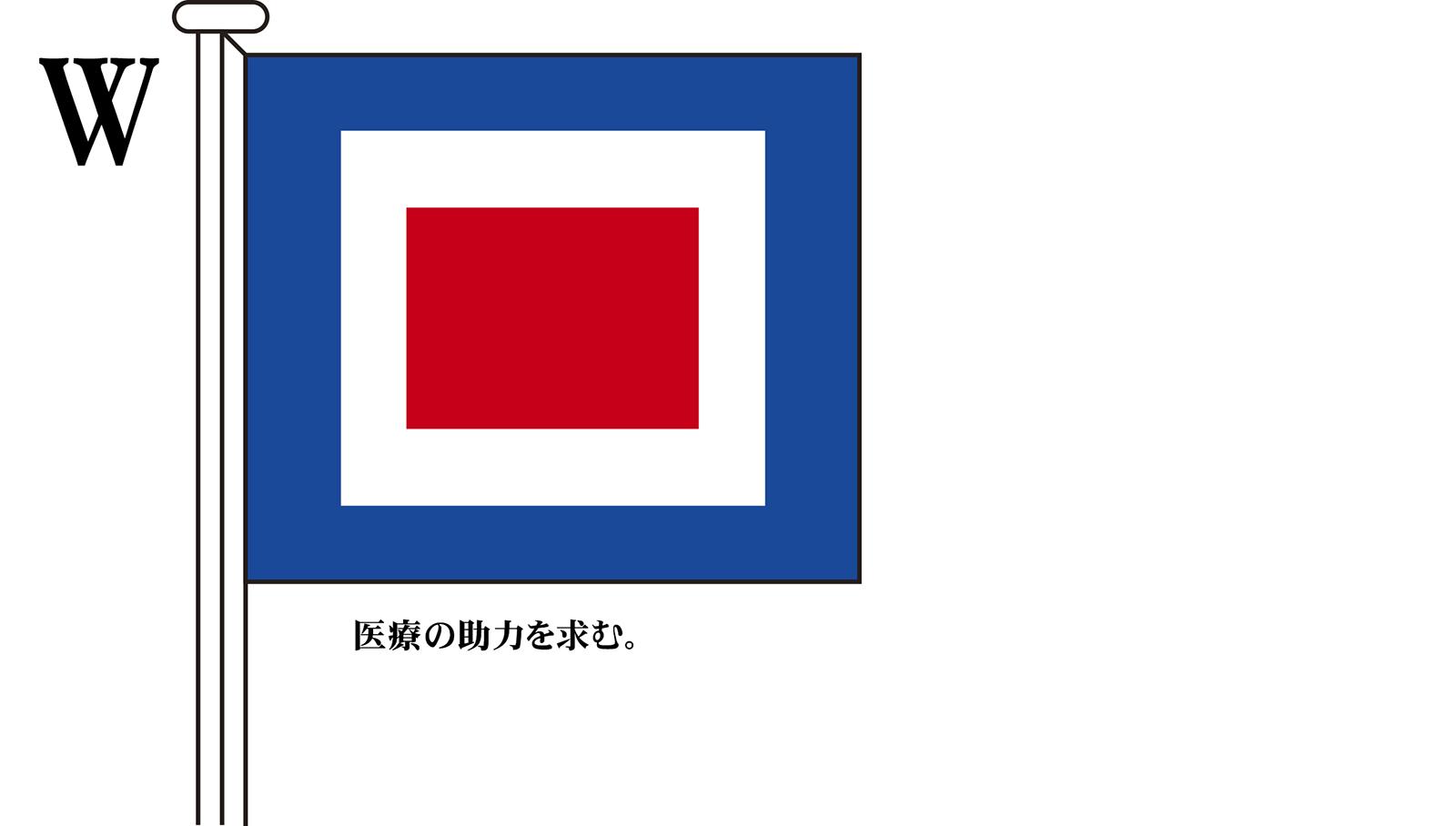 国際信号旗 文字旗 Alphabetical Flags【W】[3巾 中型:131×162cm・アクリル]