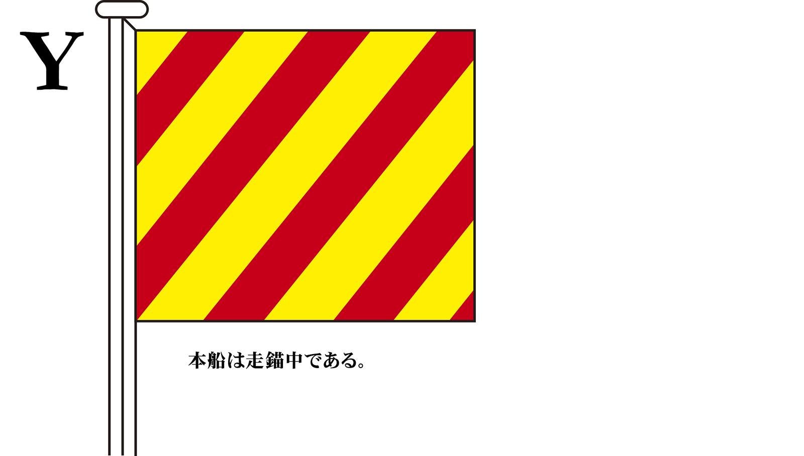 国際信号旗 文字旗 Alphabetical Flags【Y】[2巾:90×120cm・アクリル]