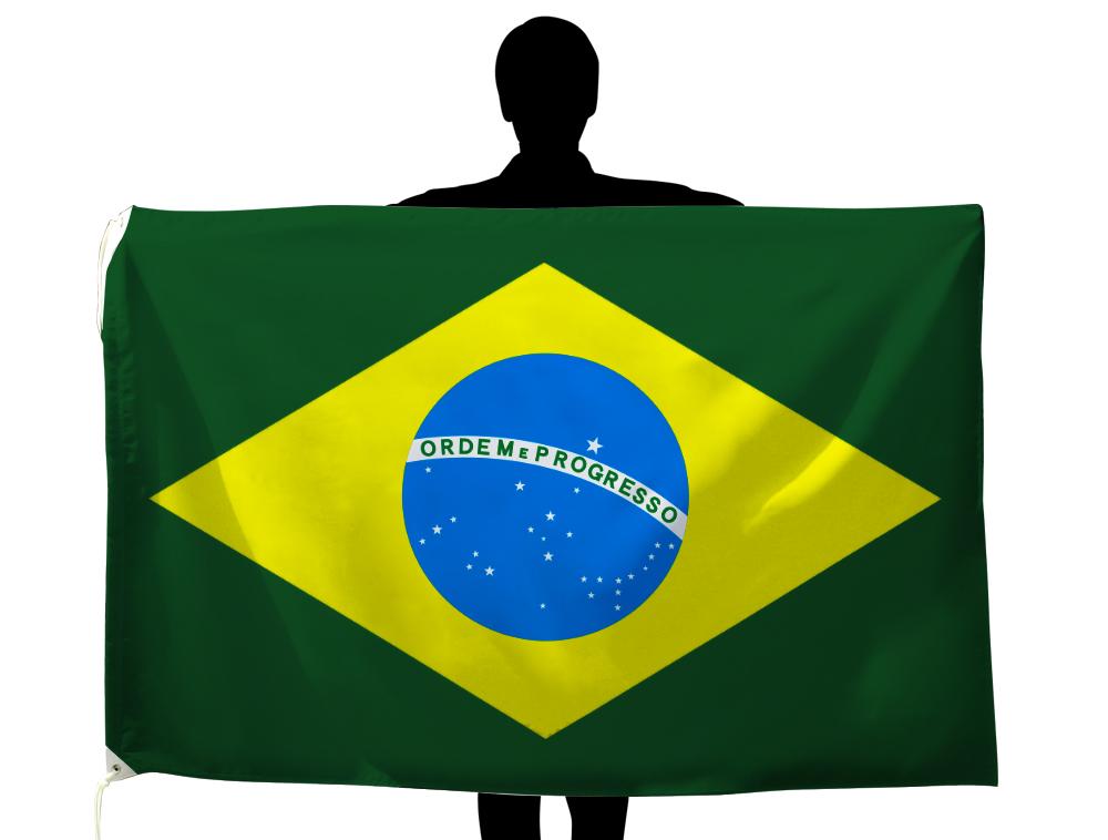 世界の国旗 ブラジル国旗[100×150cm・高級テトロン製]