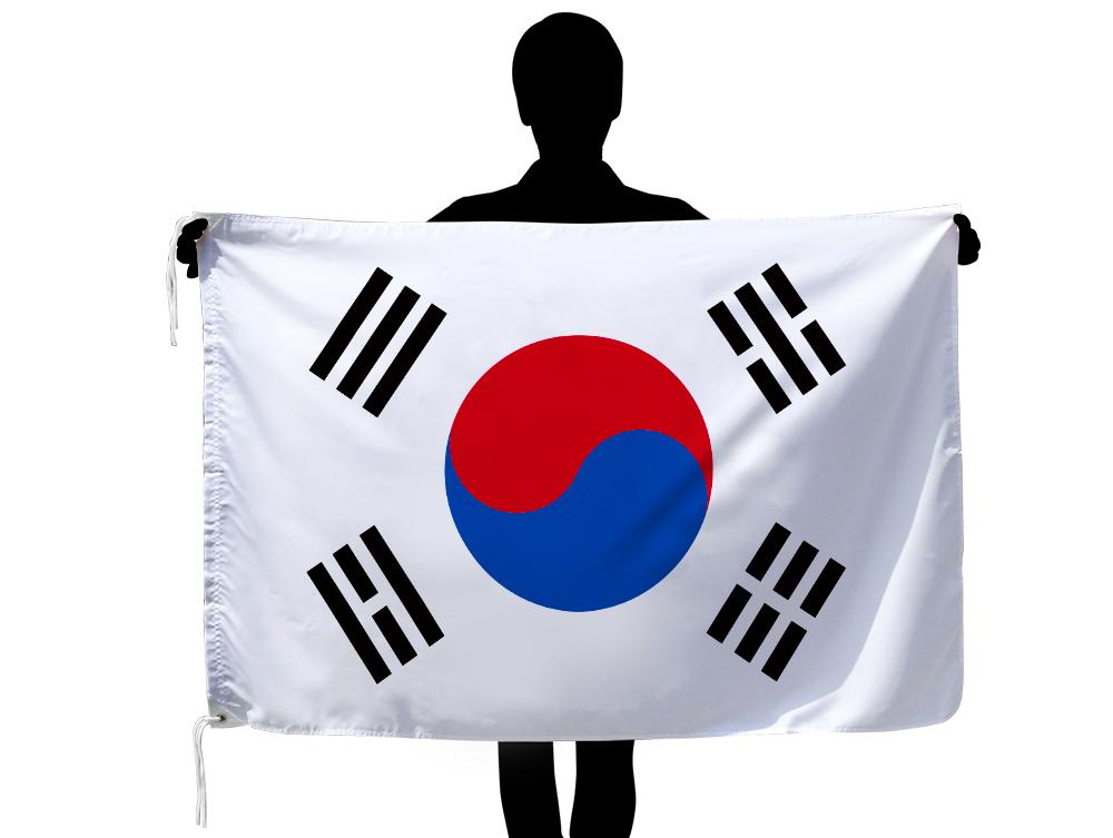 世界の国旗 大韓民国[韓国]国旗[90×135cm・高級テトロン製]安心の日本製