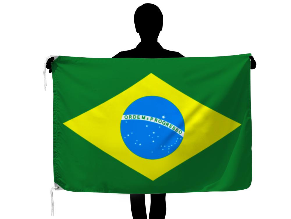屋内 屋外の各種イベントに最適 定番サイズの世界の外国旗です ブラジル 国旗 テトロン製 オーバーのアイテム取扱☆ 日本製 返品送料無料 世界の国旗シリーズ 90×135cm