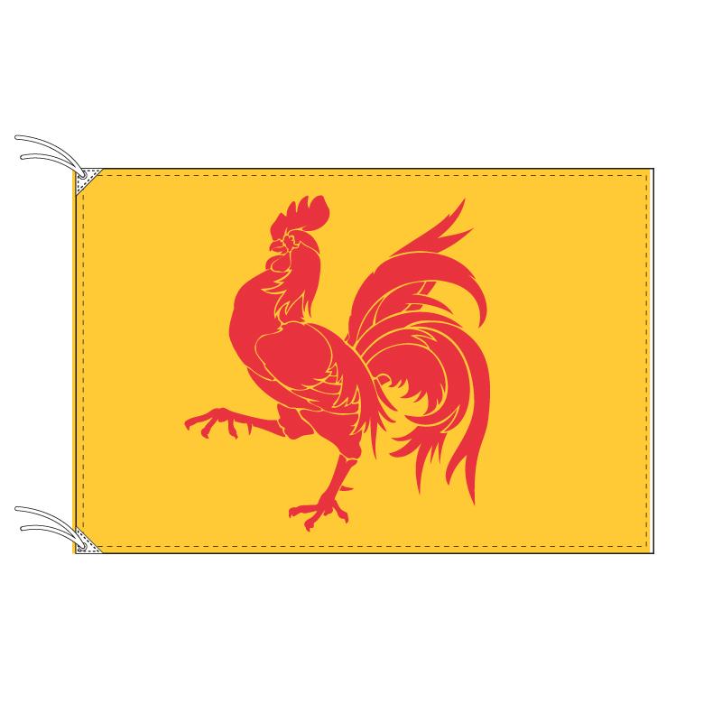 ワロン地域旗 ベルギーの地方の旗 120×180cm テトロン製 日本製 世界各国の州旗シリーズ