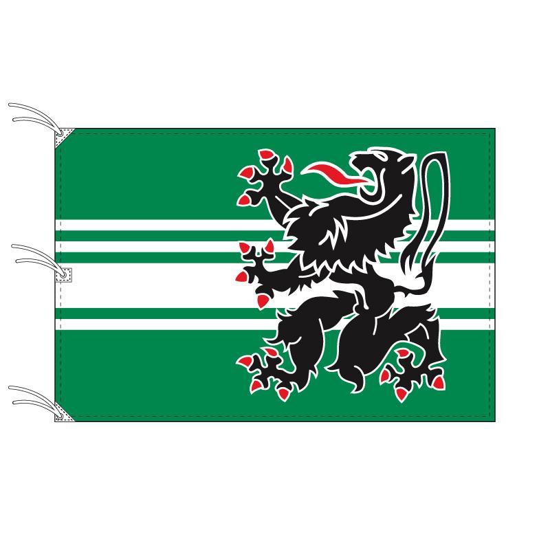 オースト=フランデレン州旗 ベルギーの地方の旗 140×210cm テトロン製 日本製 世界各国の州旗シリーズ