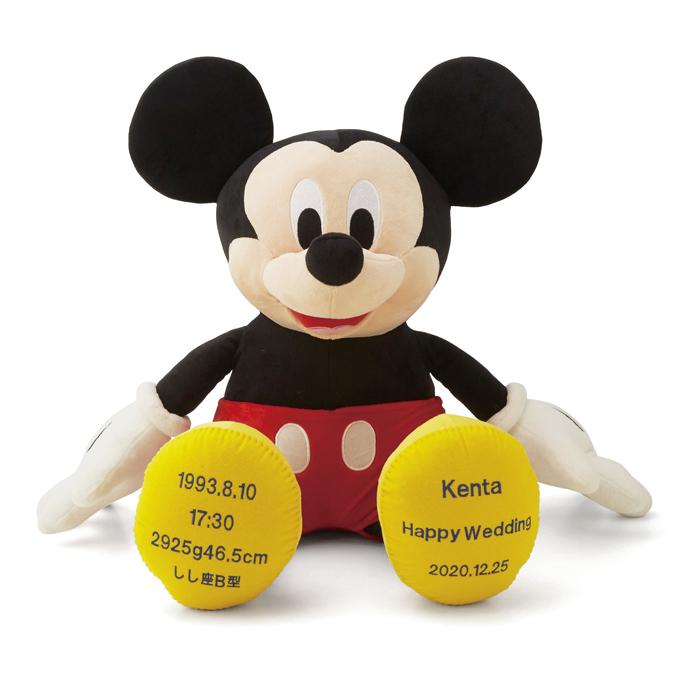 ミッキーマウス【プレゼント】結婚式 両親 プレゼント 記念品 ディズニー ウエイトドール 出産祝 七五三 誕生日 体重ベア【返品不可】