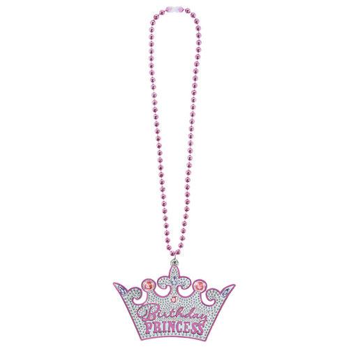 女の子の誕生日にぴったり♪きらきらのプリンセスネックレス(YP) ブリングネックレス バースデープリンセス アクセサリー パーティー コスプレ アクセサリー 姫 princess 誕生日 バースデー ゆうパケット 送料無料