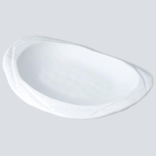 有田焼 白川 SALE開催中 正規品 白磁 楕円口変り皿 707-10167 Z706-163 お皿 和食器 業務用 皿 業務用食器