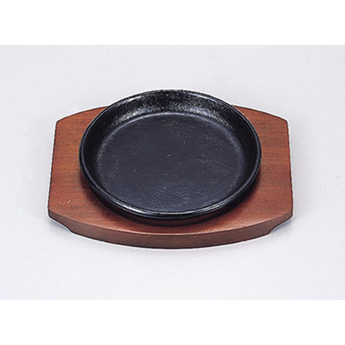 鉄器 丸型Cステーキ皿 19 Z909-197鉄板 輸入 鉄板皿 業務用食器 業務用 鉄板料理 お見舞い 飲食店