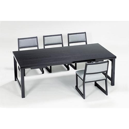 メラミン黒乾漆テーブルのみ・幕板付 Z952-532~535テーブル 机 折り畳み式 日本製 旅館 業務用