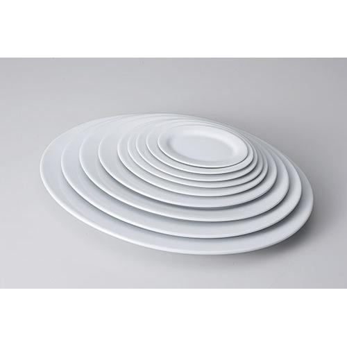 高い素材 シンプルで使いやすい陶磁器です 最新 サイズは6インチ~18インチまで 新だ円皿 10インチ 610-11073-05 Z605-145 お皿 食器 白い食器 白 業務用 白い皿 おしゃれ 白いお皿 業務用食器 ホワイト シンプル