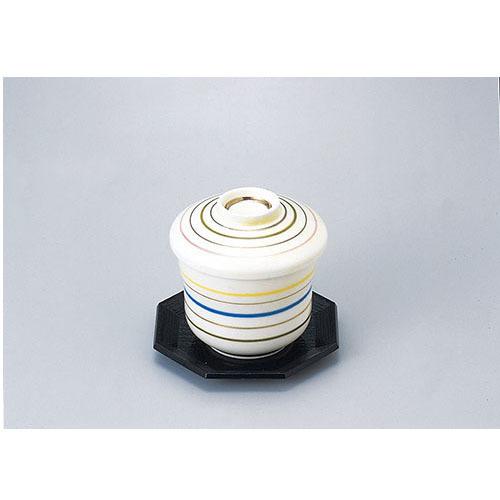 新作通販 陶磁器 新マユ型蒸碗 6本線アイボリー 流行 610-21005 Z626-144 むし椀 蒸し椀 茶碗蒸し 和食器 業務用食器 業務用