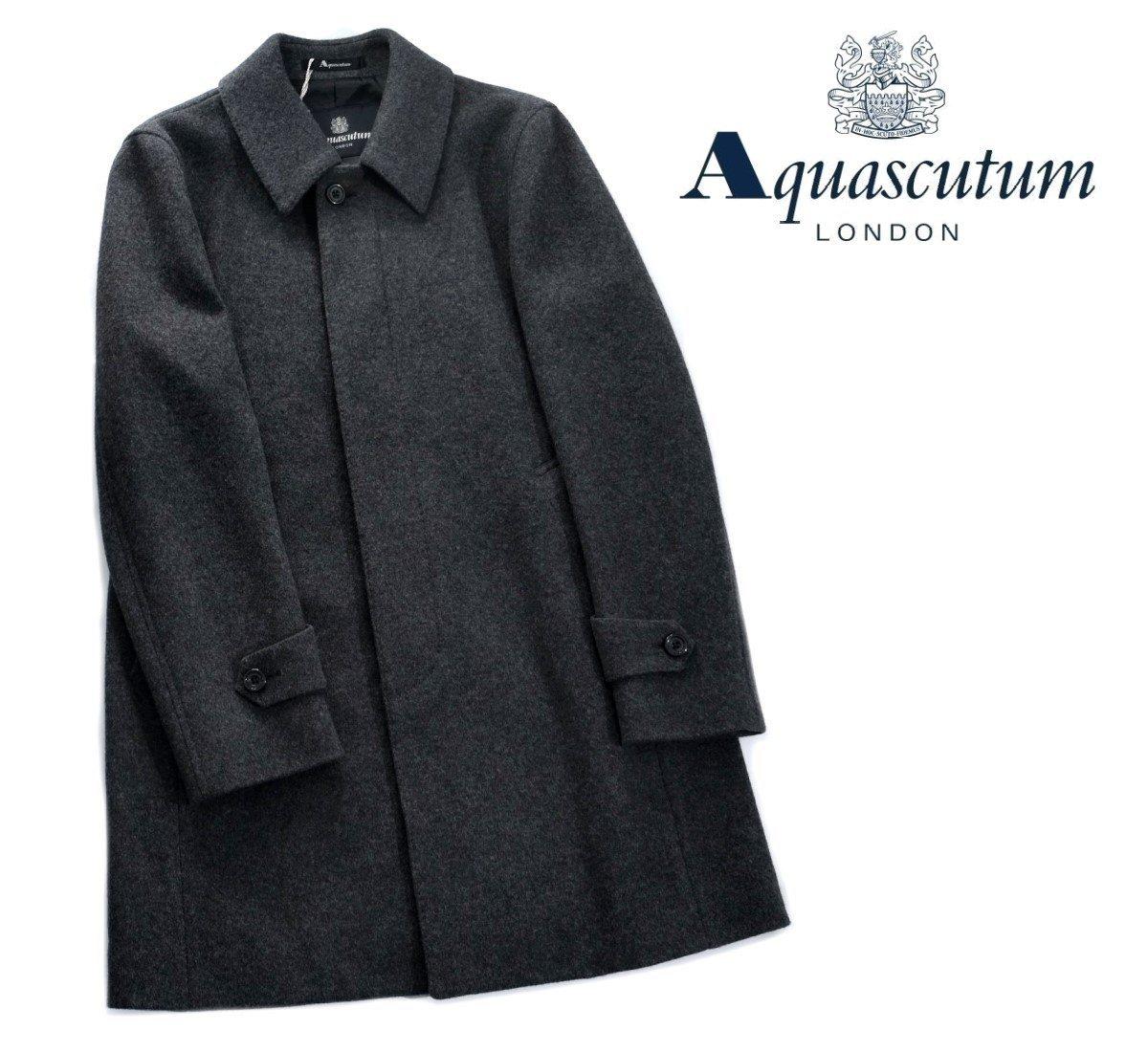 Aquascutum【アクアスキュータム】定価187,000円(税込)◆50%OFF◆日本製ウールステンカラーコートグレー
