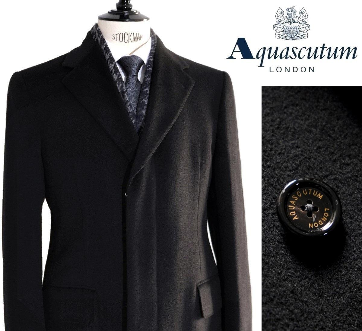 Aquascutum【アクアスキュータム】定価308,000円(税込)◆40%OFF◆日本製カシミヤ100%チェスターコート