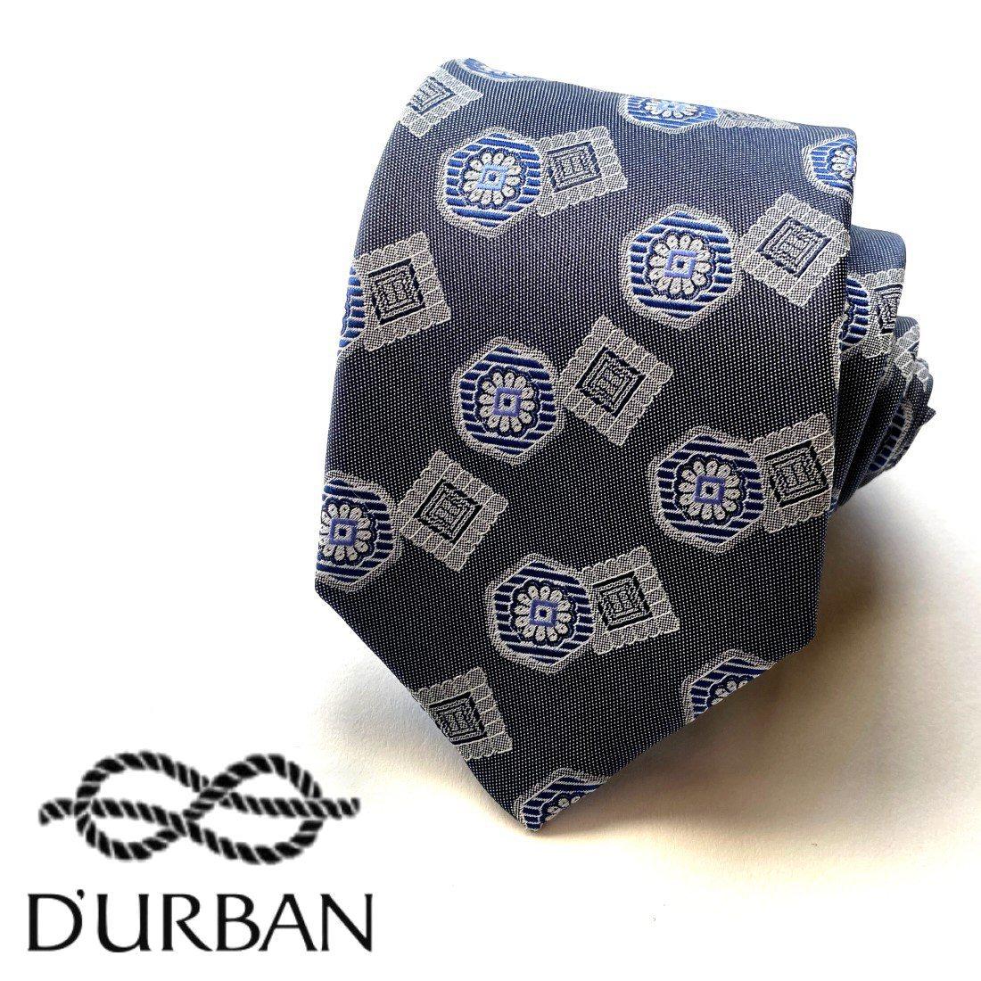MADE IN JAPAN 売り出し D'URBAN ダーバン 店舗 日本製シルクネクタイ絹100%グレー系