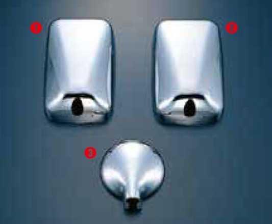 ミラーカバー 3点セット 公式 ふそうNEWキャンターH5.11~H8.12 未使用品