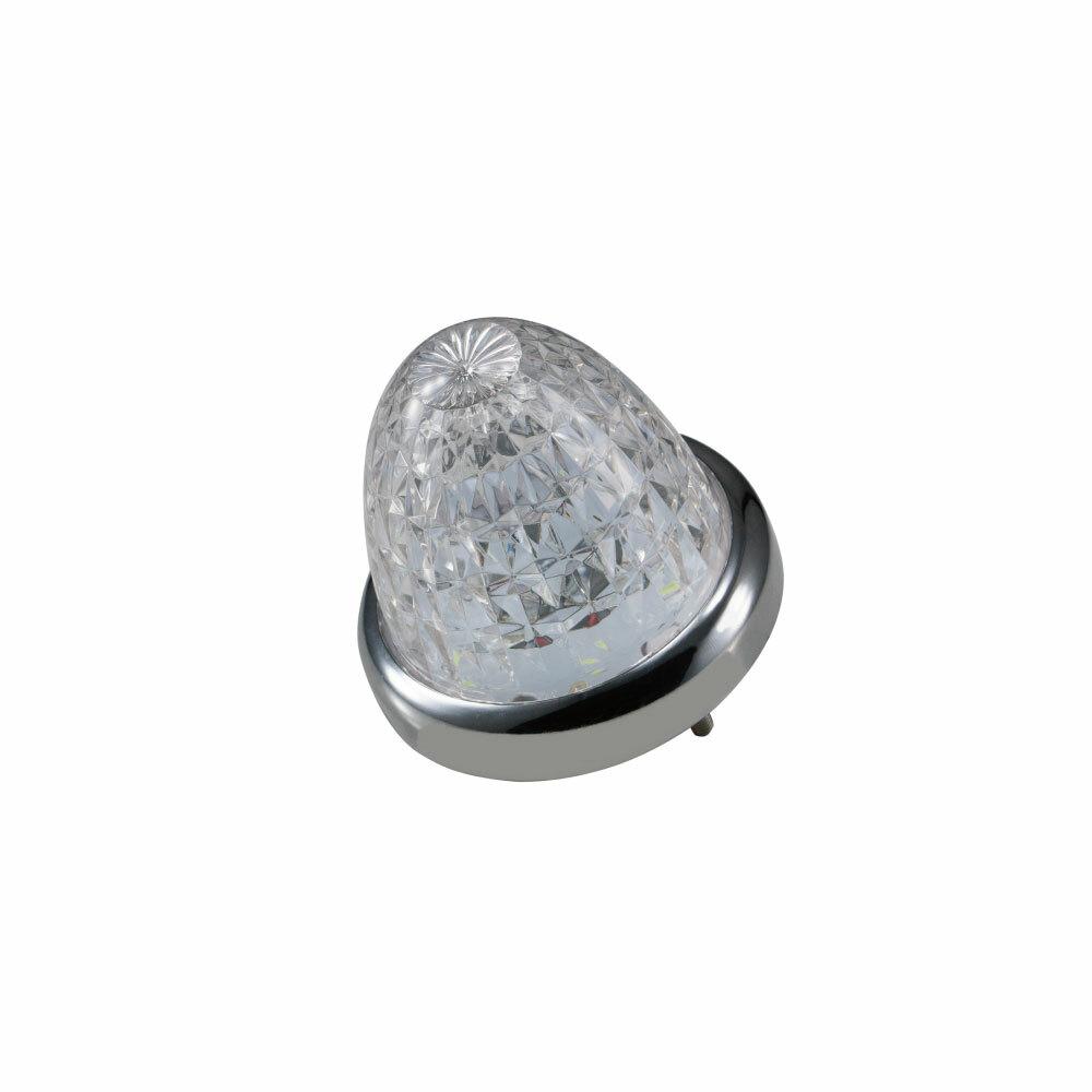 入力電源は2つあり通常点灯時はレッド色と 7色のカラーが自動で移り変わるレインボー点滅の選択が可能 LEDスターライトバスマーカー零 ゼロ 12 24V共用 クリアーレンズ仕様 レインボー ご予約品 在庫あり