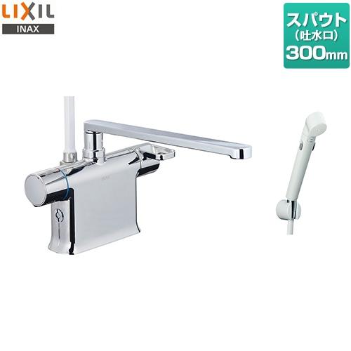 [BF-WM646TSDW(300)] LIXIL 浴室水栓 クロマーレSシリーズ サーモスタット付シャワーバス水栓 デッキタイプ スパウト長さ300mm 一般地 浴槽・洗い場兼用 【送料無料】