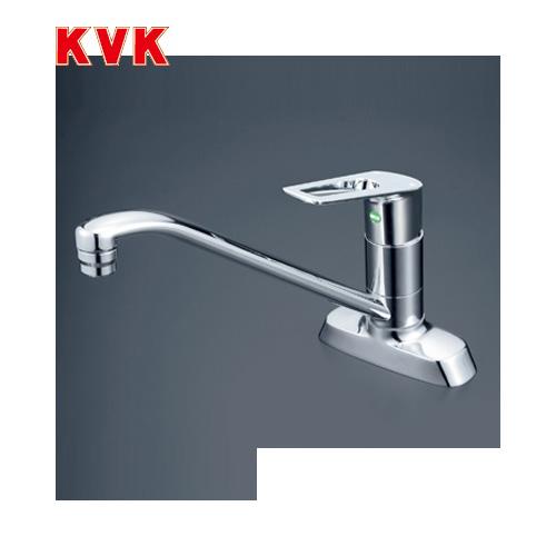 [KM5081TEC]KVK キッチン水栓 流し台用シングルレバー式混合栓 ツーホールタイプ 2穴 eレバー 【送料無料】 おしゃれ