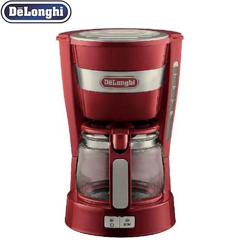 [ICM14011J-R] デロンギ コーヒーメーカー ドリップコーヒーメーカー カプチーノもカフェラテも簡単に 多様なお好み設定 レッド 【送料無料】