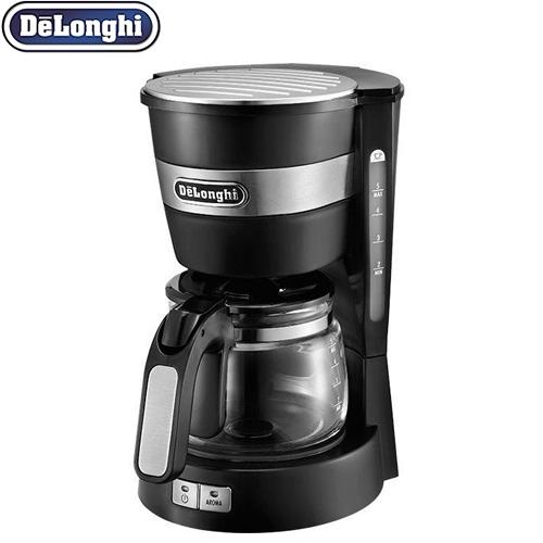 [ICM14011J] デロンギ コーヒーメーカー ドリップコーヒーメーカー カプチーノもカフェラテも簡単に 多様なお好み設定 ブラック 【送料無料】