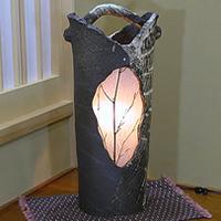 信楽焼照明!やさしい明かりが灯る陶器照明!和風照明/インテリアライト/陶器ライト/あんどん[ak-0053]