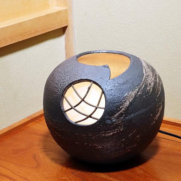 信楽焼照明!やさしい明かりが灯る陶器照明!和風照明/インテリアライト/陶器ライト/あんどん[ak-0088]