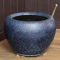 信楽焼10号なまこ火鉢!和風を演出する陶器火鉢です。陶器ひばち/手焙/手あぶり/信楽焼ひばち【hi-0007】