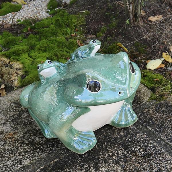 信楽焼 20号青蛙 縁起物カエル お庭に玄関先に陶器蛙 やきもの 陶器 しがらきやき 蛙 陶器かえる 信楽焼カエル ka-0069