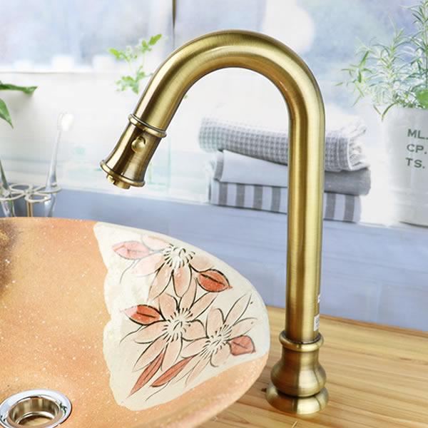 立ち水栓 手洗い鉢用 立水栓 単水栓 [se-0016]