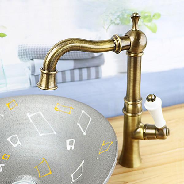 立ち水栓 手洗い鉢用 立水栓 単水栓 [se-0017]