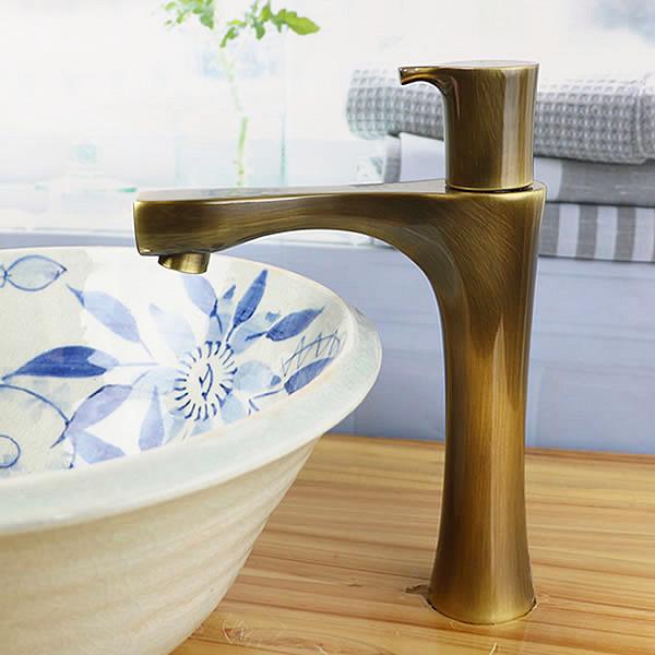 立ち水栓 手洗い鉢用 立水栓 単水栓 [se-0018]