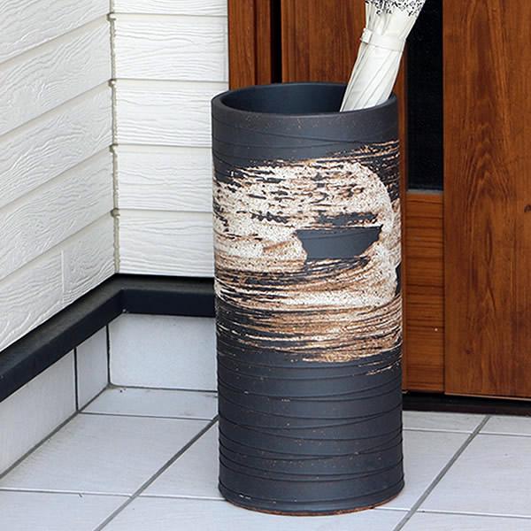 傘立て 陶器傘立て 信楽焼かさたて 和風傘立て 傘入れ 壷 しがらき カサタテ やきもの傘立て かさたて陶器 玄関 インテリア 傘立て陶器 和風 傘立 kt-0125