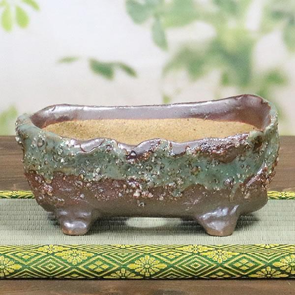 山草鉢 手作りの陶器植木鉢 山野草鉢 信楽焼 山草 鉢 しがらき 陶器鉢 植木 やきもの 信楽焼鉢 手づくり sa-0307