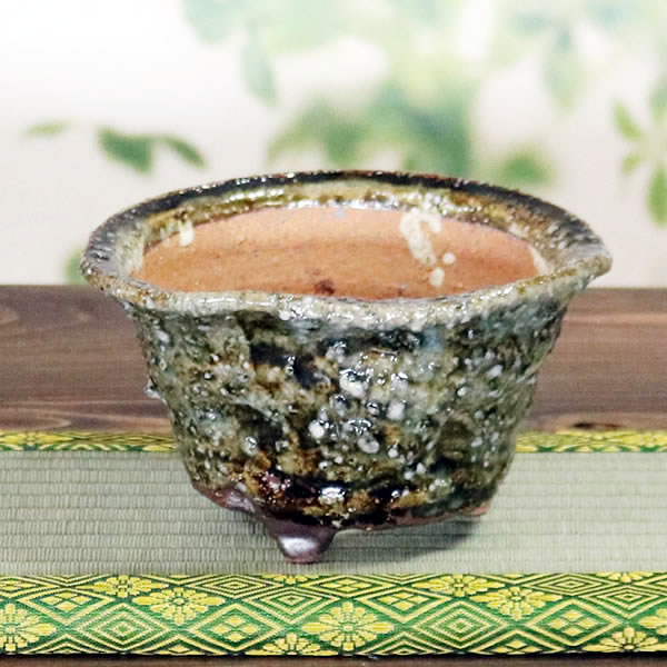 山草鉢 手作りの陶器植木鉢 山野草鉢 信楽焼 山草 鉢 しがらき 陶器鉢 植木 やきもの 信楽焼鉢 手づくり sa-0312